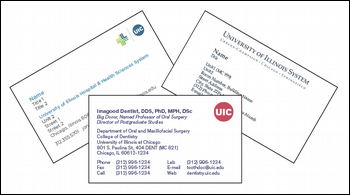 Business and Appointment Cards