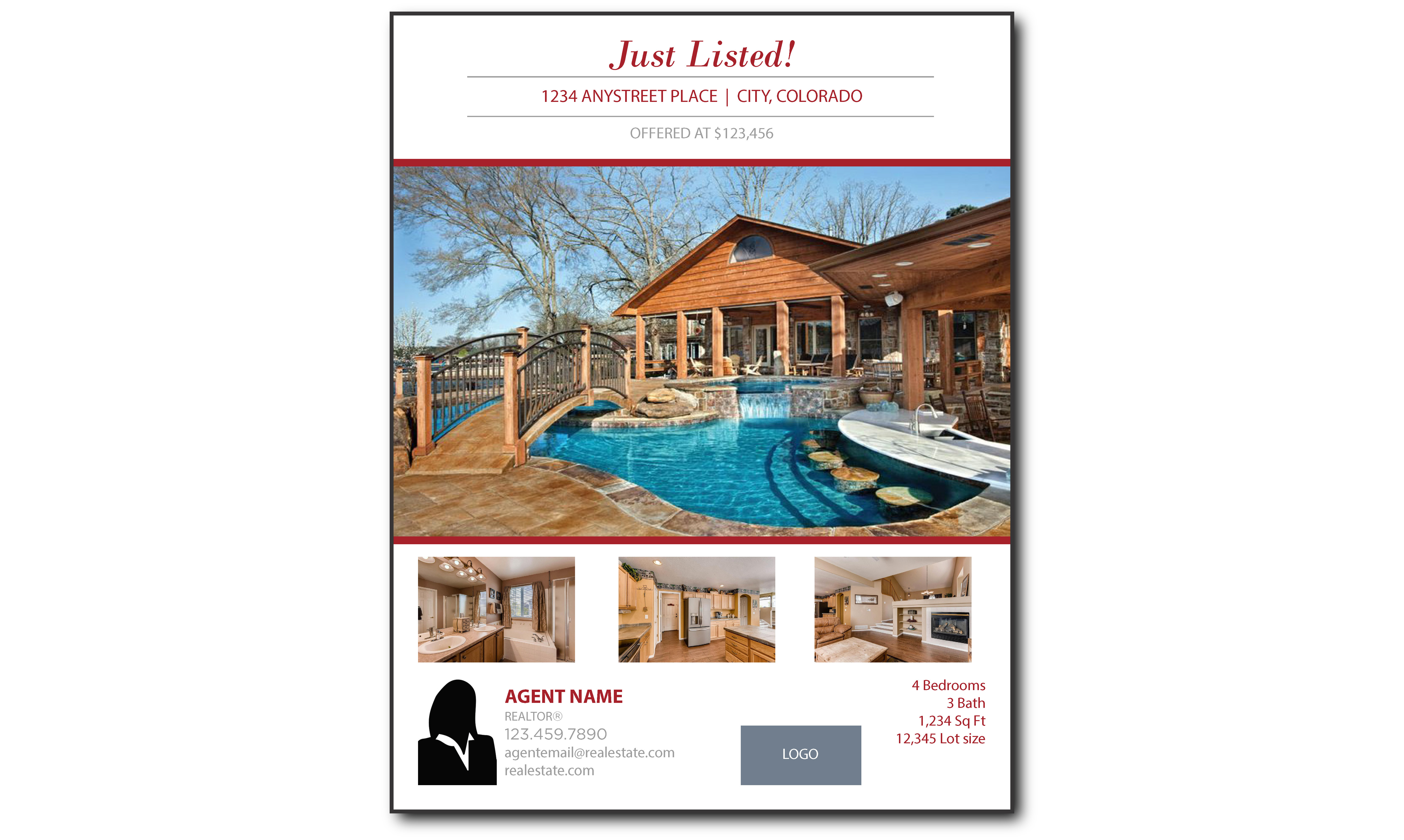 Plumb Marketing Flyer One Sided Luxury Red - 1709