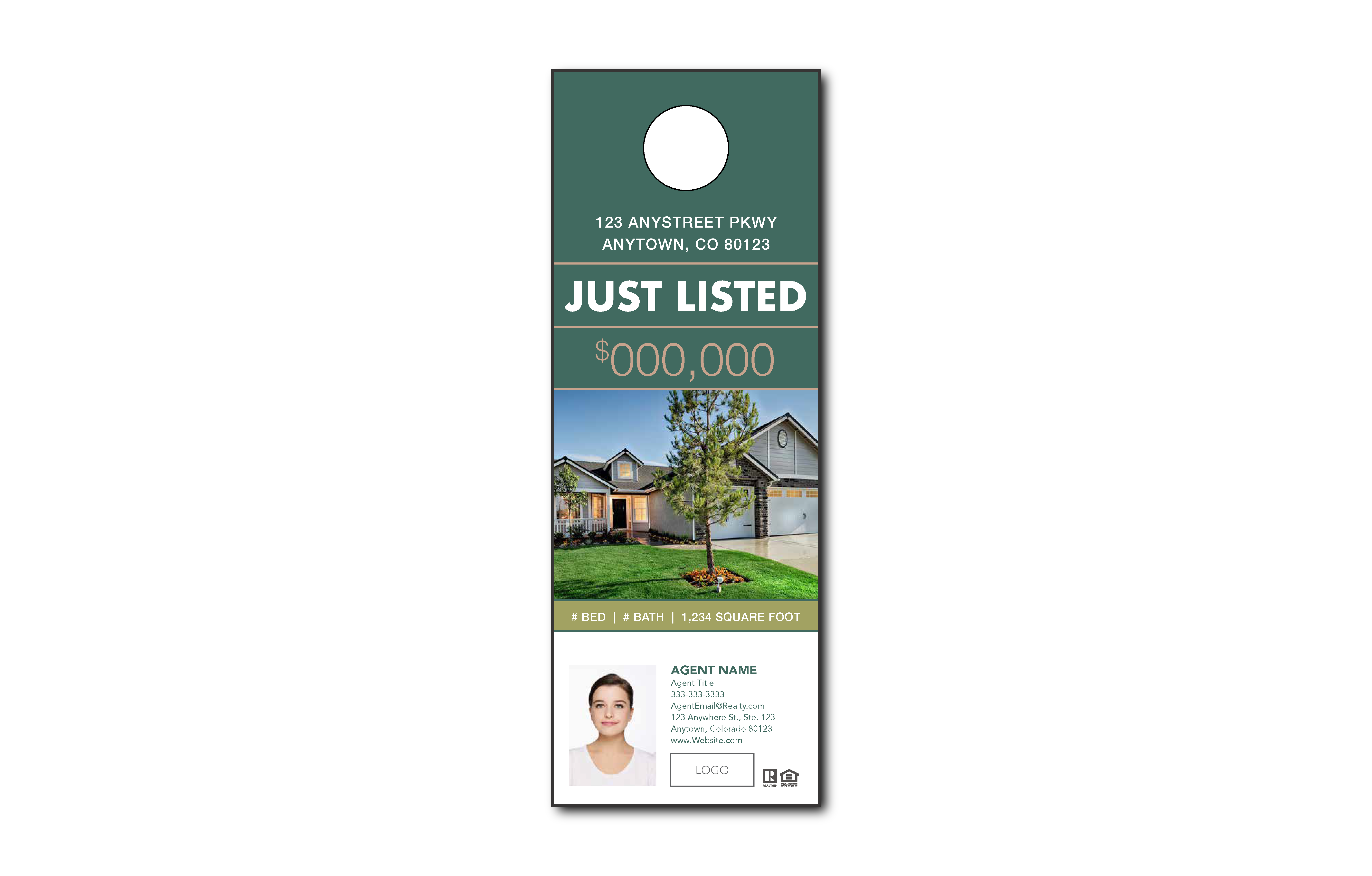 Plumb Marketing Doorhanger 10 One Sided Green - 1709