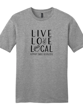 Live Love Local Grey T-Shirt
