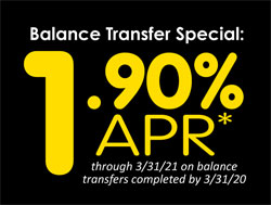 rate special 1.90 percent annual percentage rate