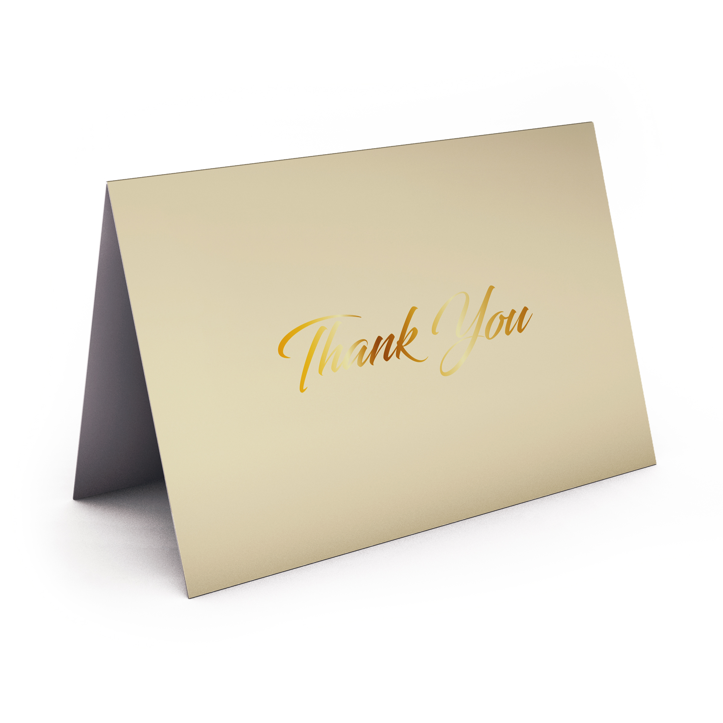 Cream Card wtih Gold Foil  5.5 x 4.25 Folded Size