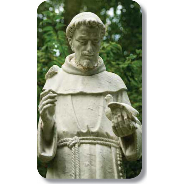 "Saint Francis of Assisi2.5"" x 4.25"""