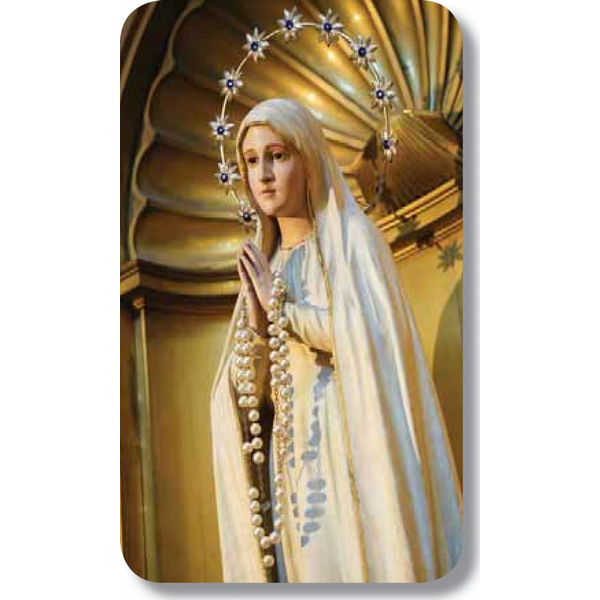 "Statue of Blessed Virgin2.5"" x 4.25"""