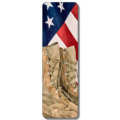 Flag & Boots Bookmark