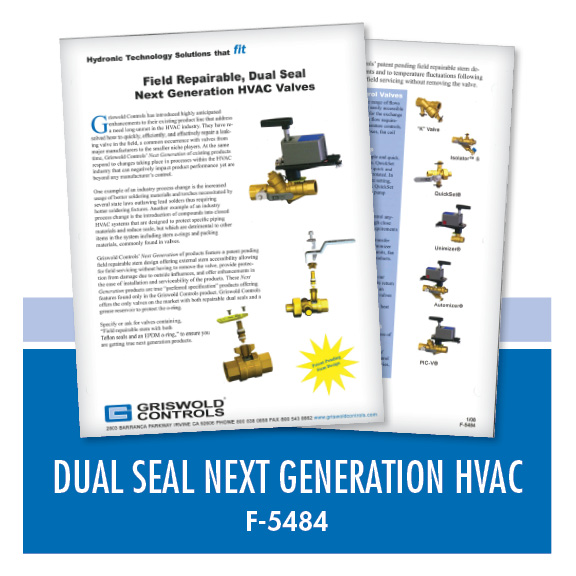 Marketing / Duel Seal Next Generation HVAC Valves (F-5484)
