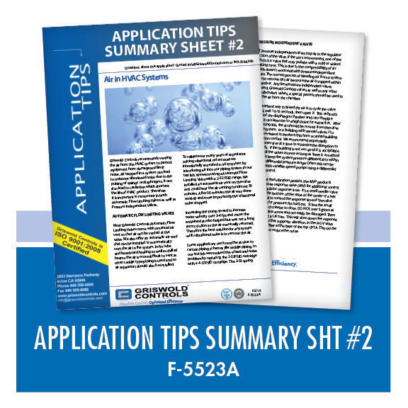 Marketing / Application Tips: Summary Sheet 2 (F-5523A)
