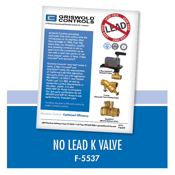 Marketing / No Lead K Valve (F-5537)